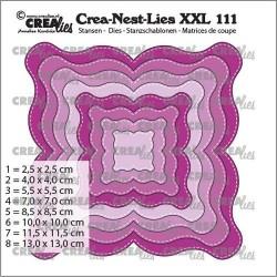 (CLNestXXL111)Crealies Crea Nest-Dies XXL Fantasy Shape E Stitching Line