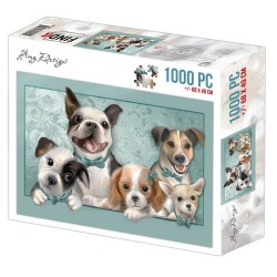 (ADPZ1006)Jigsaw puzzel 1000 pc - Amy Design - Dogs