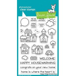 (LF1591)Lawn Fawn Happy Village Clear Stamps