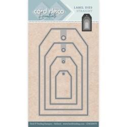 (CDECD0075)Card Deco Essentials - Label Dies - Label Dies Straight