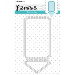 (STENCILSL397)Studio Light Cutting and Embossing Die Cardshape Pocket Essentials nr.397