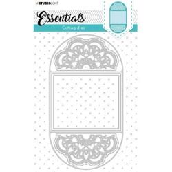 (STENCILSL398)Studio Light Cutting and Embossing Die Cardshape Pocket Essentials nr.398