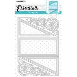 (STENCILSL399)Studio Light Cutting and Embossing Die Cardshape Pocket Essentials nr.399