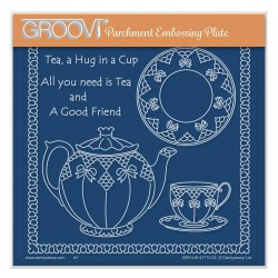 (GRO-LW-41712-03)Groovi Plate A5 LINDA WILLIAMS' ALL YOU NEED IS TEA