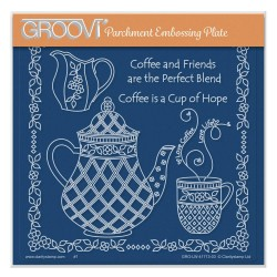 (GRO-LW-41713-03)Groovi Plate A5 LINDA WILLIAMS' COFFEE & FRIENDS