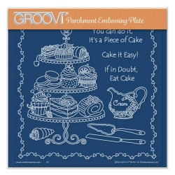 (GRO-LW-41716-03)Groovi Plate A5 LINDA WILLIAMS' PIECE OF CAKE
