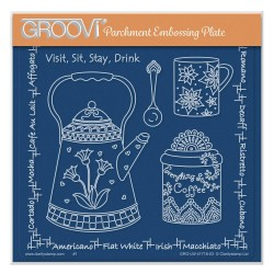 (GRO-LW-41718-03)Groovi Plate A5 LINDA WILLIAMS' VISIT, SIT, STAY, DRINK