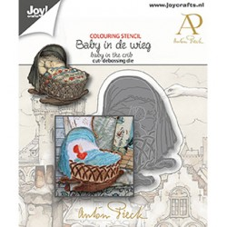(6002/1610)Cutting debossing dies - Anton Pieck - Baby in de wieg