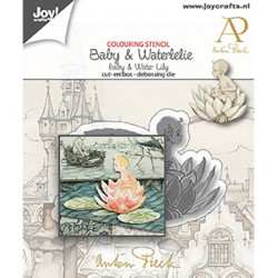 (6002/1611)Cutting debossing dies - Anton Pieck - Baby & water Lily