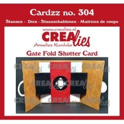 (CLCZ304)Crealies Cardzz Gate fold shutter