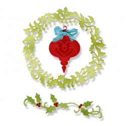 (659001)Thinlits Die Set 3PK - Christmas Ornament, Wreath & Vine