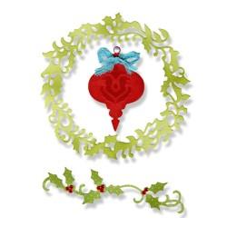 (659001)Thinlits Die Set 3PK - Christmas Ornament, Wreath & Vine