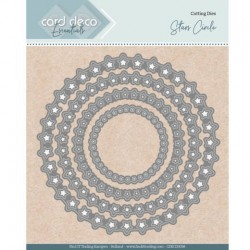 (CDECD0098)Card Deco Essentials - Nesting Dies - Stars Circle