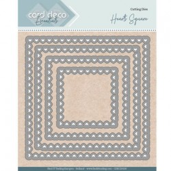 (CDECD0100)Card Deco Essentials - Nesting Dies - Bullet Hearts Square