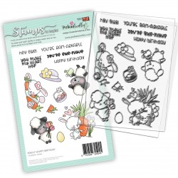 (PD8127)Polkadoodles Hoppy Birthday Clear Stamps