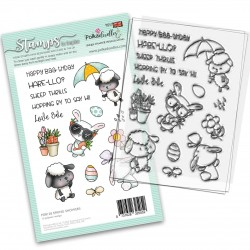 (PD8128)Polkadoodles Spring Showers Clear Stamps