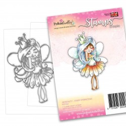 (PD7852)Polkadoodles Serenity Fairy Princess Clear Stamps