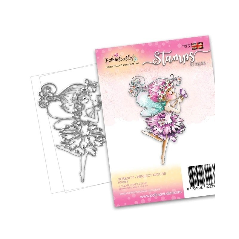 (PD7853)Polkadoodles Serenity Perfect Nature Clear Stamps