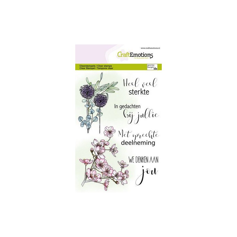 (1342)CraftEmotions clearstamps A6 - Floral condolences (NL)