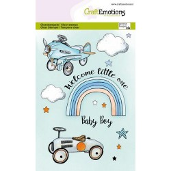 (1344)CraftEmotions clearstamps A6 - Babyboy (ENG)