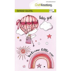 (1345)CraftEmotions clearstamps A6 - Babygirl (ENG)