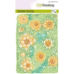 (1347)CraftEmotions clearstamps A6 - Floral background