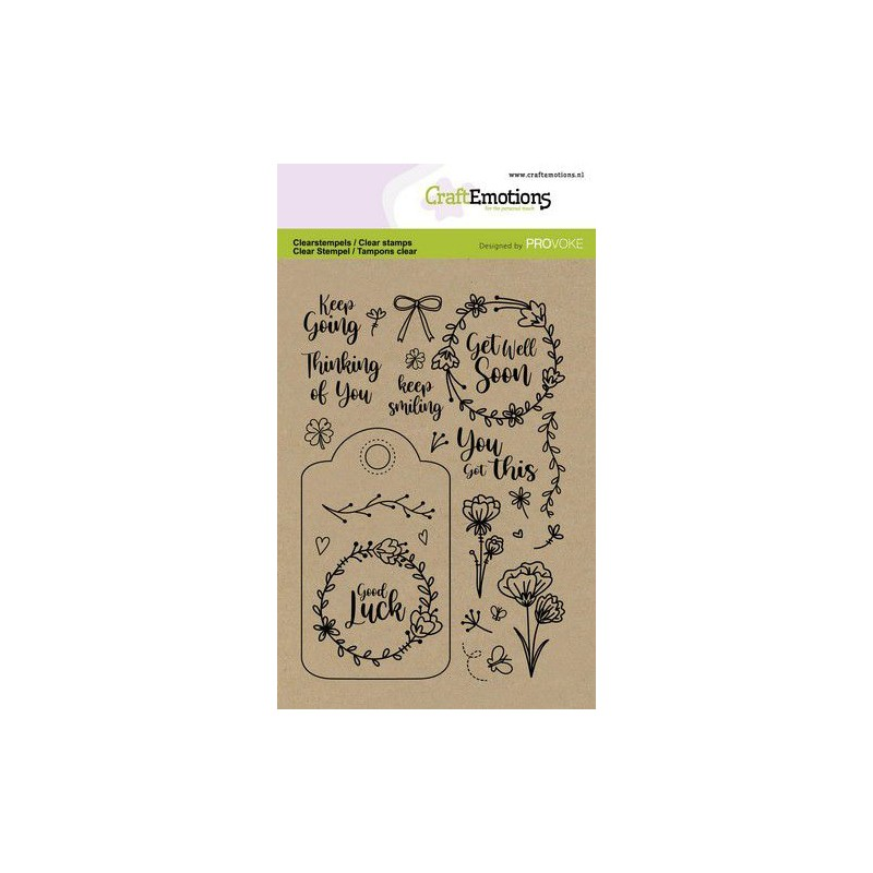 (2501)CraftEmotions clearstamps A6 - Good luck (Eng)