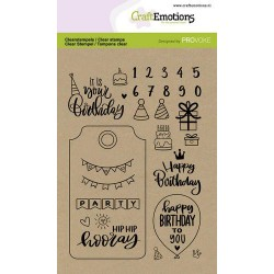 (2504)CraftEmotions clearstamps A6 - Birthday (Eng)