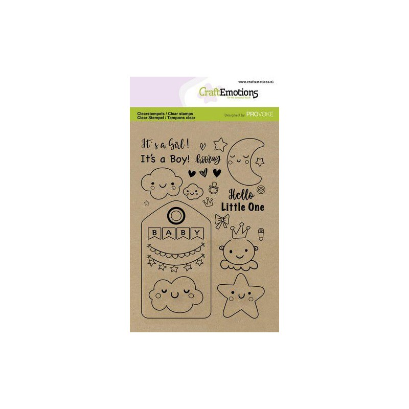 (2502)CraftEmotions clearstamps A6 - Baby (Eng)