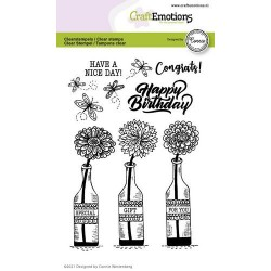 (2701)CraftEmotions clearstamps A6 - bottle`s - Special gift for you Connie Westenberg