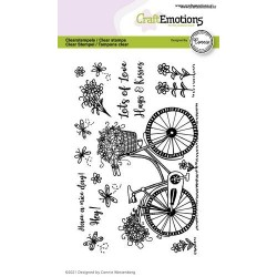 (2702)CraftEmotions clearstamps A6 - bicycles - Have a nice day Connie Westenberg
