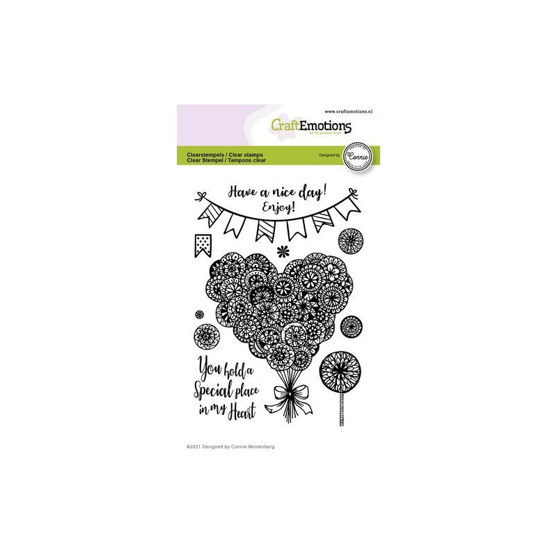 (2703)CraftEmotions clearstamps A6 - heart - Special place in my heart Connie Westenberg
