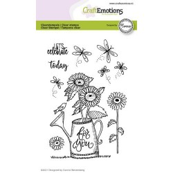 (2704)CraftEmotions clearstamps A6 - watering can - For you Connie Westenberg
