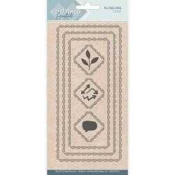 (CDECD0101)Card Deco Essentials - Slimline Dies - Slimline Leaf