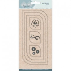 (CDECD0102)Card Deco Essentials - Slimline Dies - Slimline Bow