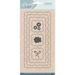 (CDECD0103)Card Deco Essentials - Slimline Dies - Slimline Buttons