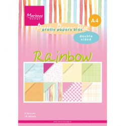 (PK9175)Pretty Papers bloc A4 Rainbow