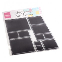 (CS1081)Clear stamp Colorful Silhouette - Basic Squares