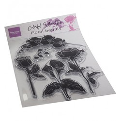 (CS1083)Clear stamp Colorful Silhouette - Floral Beauty