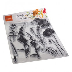 (CS1084)Clear stamp Colorful Silhouette - Wild Flowers