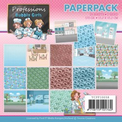 (YCPP10038)Paperpack - Yvonne Creations - Bubbly Girls - Professions
