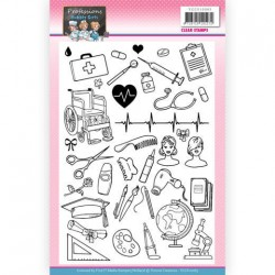 (YCCS10065)Clear Stamps - Yvonne Creations - Bubbly Girls - Professions