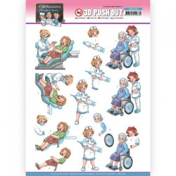 (SB10548)3D Push Out - Yvonne Creations - Bubbly Girls Proffesions - Nurse