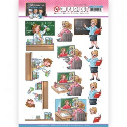 (SB10550)3D Push Out - Yvonne Creations - Bubbly Girls Proffesions - Teacher