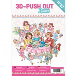 (3DPO10027)3D Push Out book 27 - Ladies