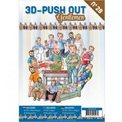 (3DPO10028)3D Push Out book 28 - Gentlemen
