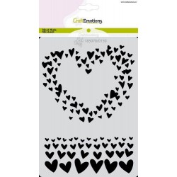 (185070/0150)CraftEmotions Mask stencil Just Married - Coeur A6 Carla Creaties