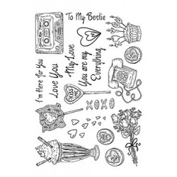 (SSB007)The Card Hut Romantic Explosion Clear Stamps