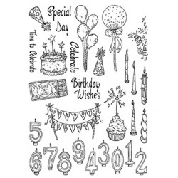 (SSB008)The Card Hut Party Explosion Clear Stamps
