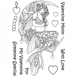 (LCMC001)The Card Hut Mythical Creatures: Valentine Moon Clear Stamps